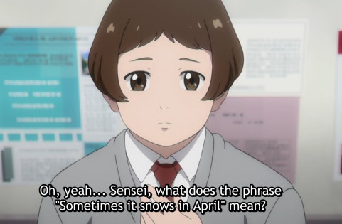 """She had a bad dream. When a rose bud talks about """"snow in April"""", that is a bad sign."""