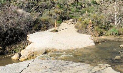 Abandoned creek crossing