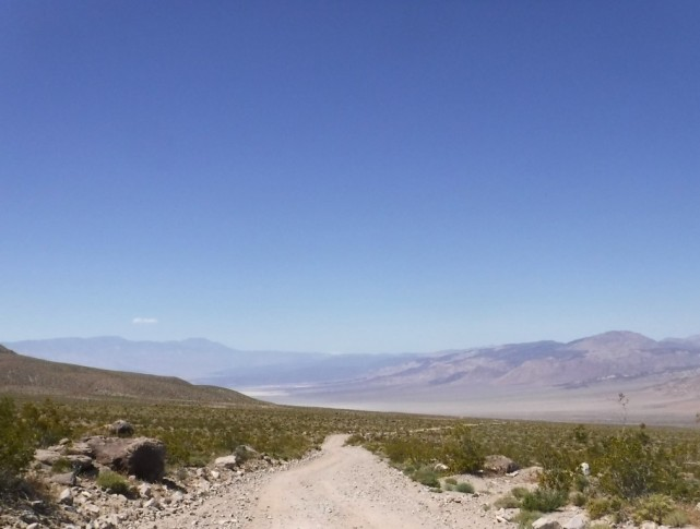 The long descent onto Saline valley