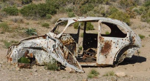Abandoned car. Not all vehicles make it out. A tow can cost $3000 from here.