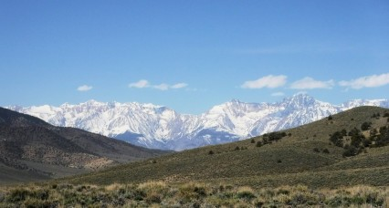Finally clear of North Pass, the Sierras in the distance.